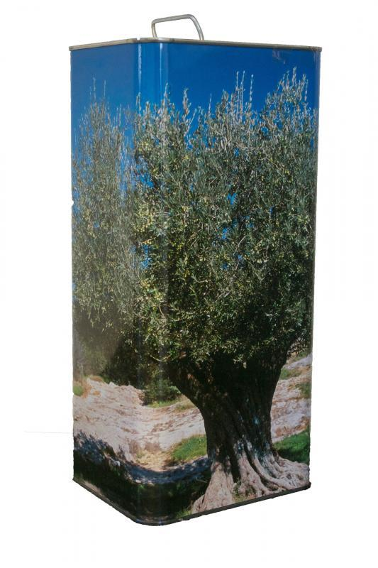 Olivares la Reconquista Extra Virgin Olive Oil can